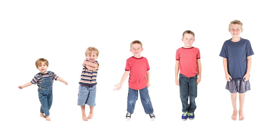 Three golden stages for height growth in children